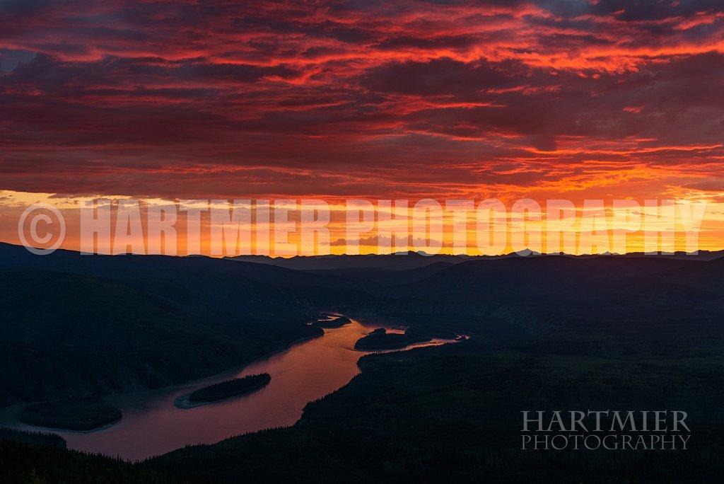 Sunset from Dome , Dawson City Yukon