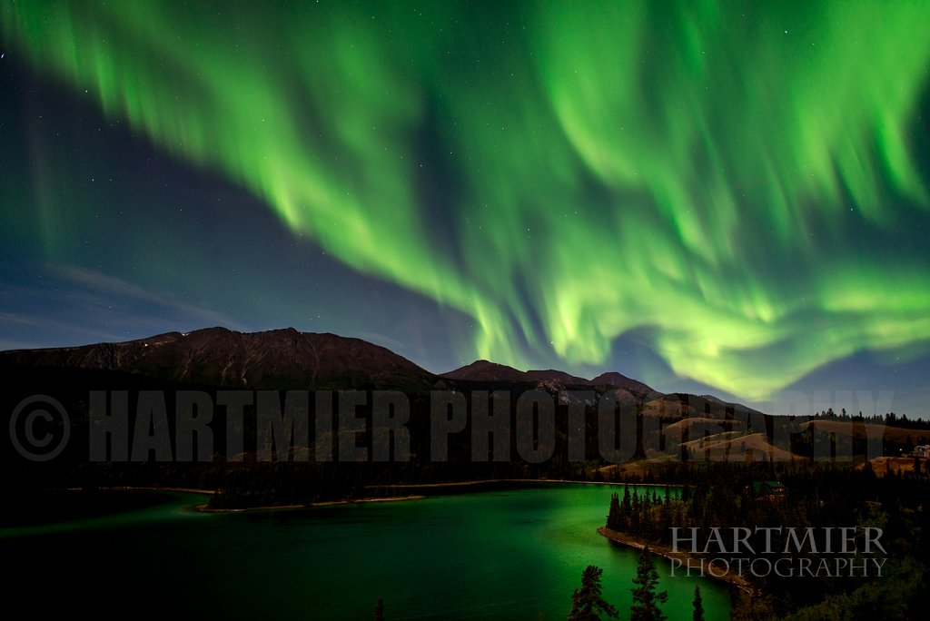 Aurora over Emeral Lk Yukon