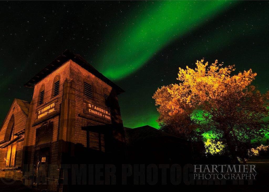 Aurora over Dawson City